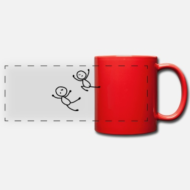 Stick Man Stick Figure Funny Typical Man Woman Funny - Full Color Panoramic Mug