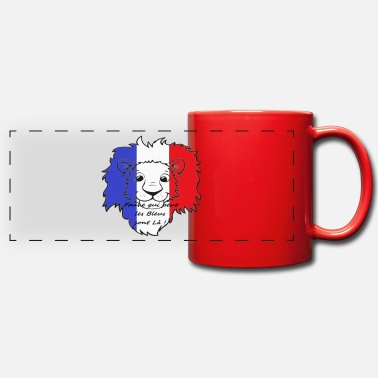 Portebonheur Lion supporter France - Mug panoramique