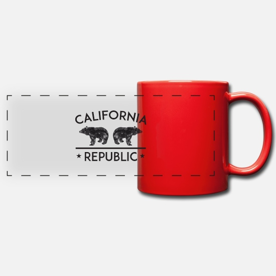 San Francisco Mugs & Drinkware - California Republic - Panoramic Mug red