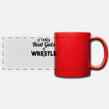 Testosterone It Takes Real Guts To Wrestle - Panoramic Mug