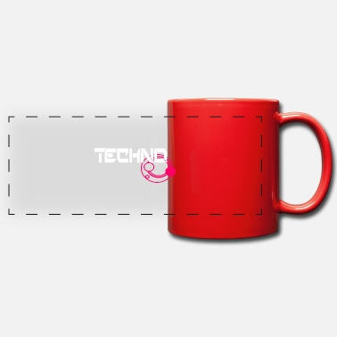 Techno Music Techno Music Music Patch Design - Panoramic Mug