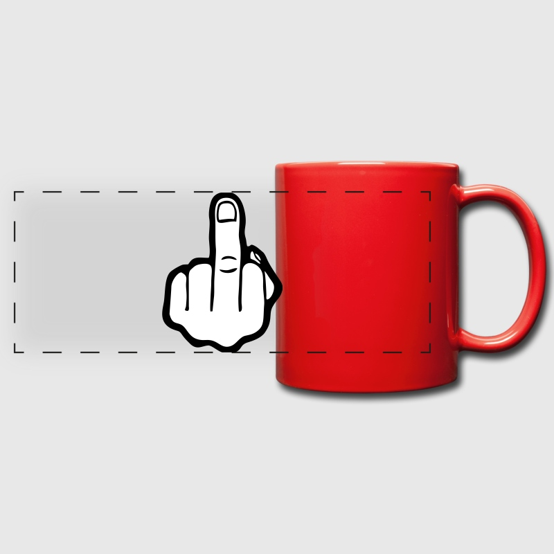 Finger, Fuck you (cheap!) - Mug panoramique uni