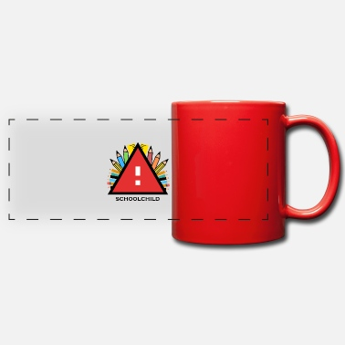 Ecolier Attention Attention Ecolier commence - Mug panoramique