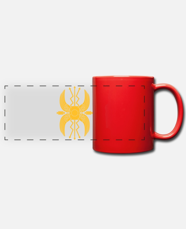 Wing Mugs & Drinkware - scutum - Panoramic Mug red