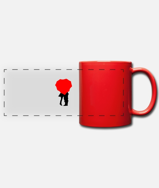 Mugs & Drinkware - couple3 - Panoramic Mug red