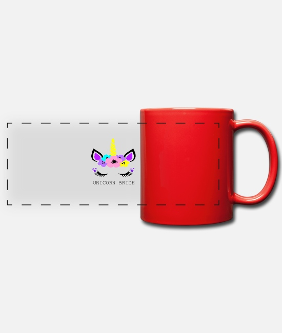 Hen Mugs & Drinkware - Unicornbride - Panoramic Mug red