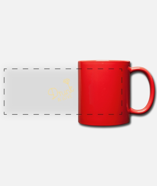 Love Mugs & Drinkware - drunk in love - Panoramic Mug red