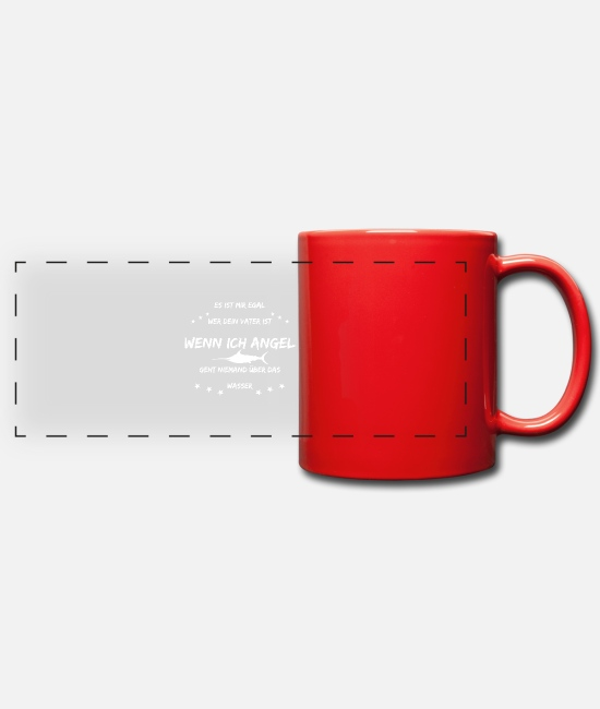Fish Hook Mugs & Drinkware - angler - Panoramic Mug red