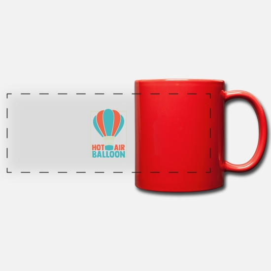 Gift Idea Mugs & Drinkware - Hot Air Balloon - Panoramic Mug red