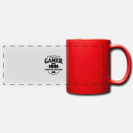 1991 Mugs et récipients - Gamer Since 1991 - Mug panoramique rouge