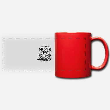 if you never go you will never know travel tshir - Panoramic Mug