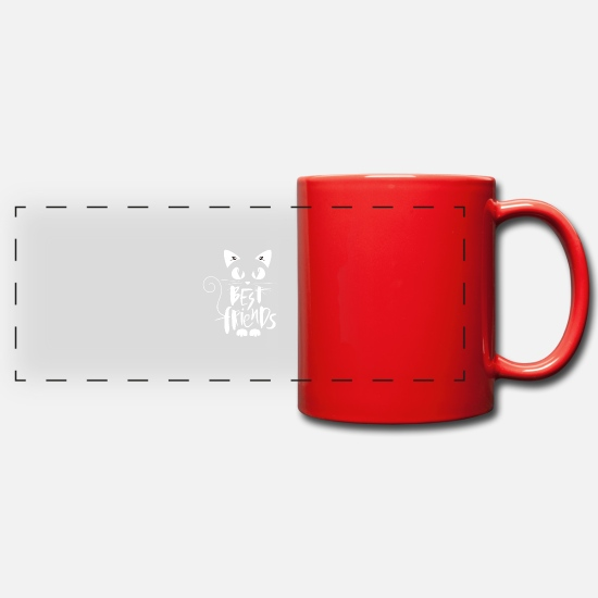 Cat Mugs & Drinkware - BEST FRIENDS - Panoramic Mug red