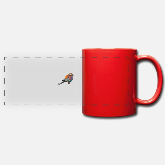 Beautiful Mugs & Drinkware - colorful bird - Panoramic Mug red