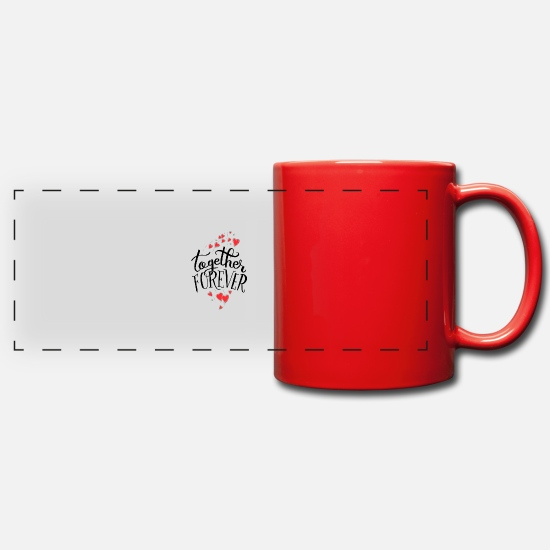 Love Mugs & Drinkware - together forever b - Panoramic Mug red