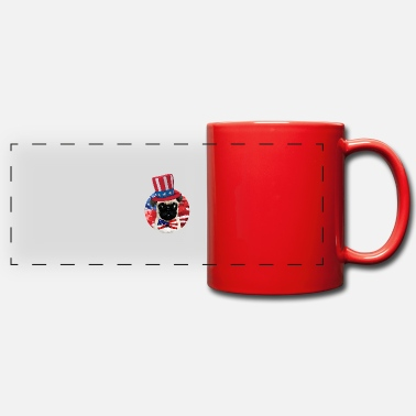 American Fourth Of July Dog - Panoramic Mug