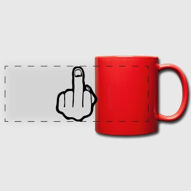 fuck you, middle finger - Full Color Panoramic Mug