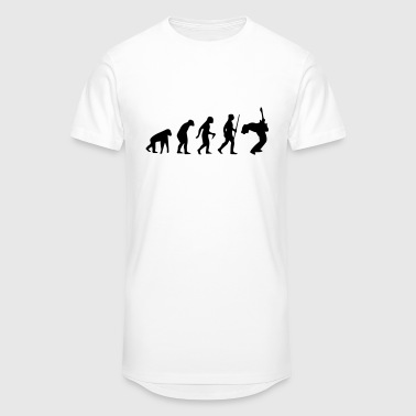COMPUTER EVOLUTION (ONLY FOR REAL GUITARISTS) - Men's Long Body Urban Tee
