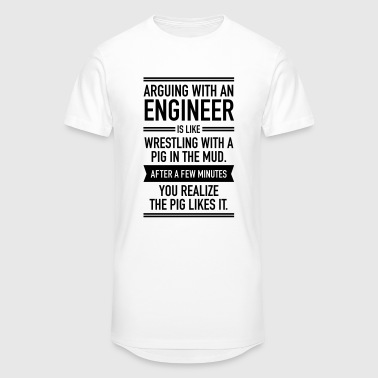 Arguing With An Engineer... - Men's Long Body Urban Tee