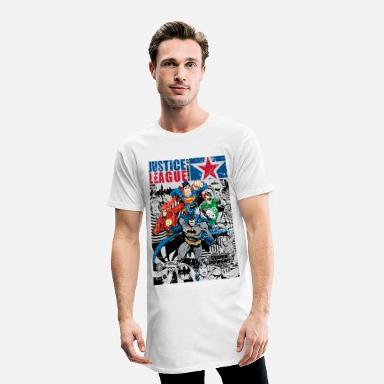 Comics T-shirts - Justice League Comic Cover - Mannen Longshirt wit