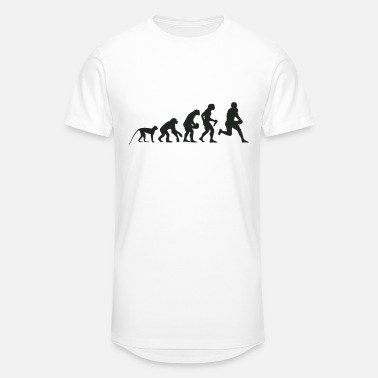 Evolution Of Rugby Evolution Football - Men's Long Body Urban Tee