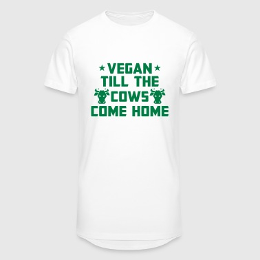 Cow Shape I'M VEGAN - UNTIL THE COWS RETURN HOME! - Men's Long Body Urban Tee