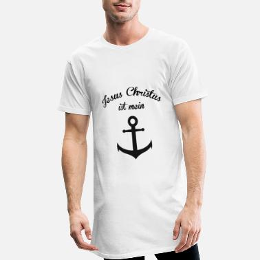 Christian Clothes JESUS CHRIST IS MY ANCHOR CHRISTIAN CLOTHES - Men's Long T-Shirt