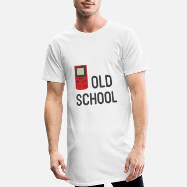 Old Old school handheld console gift - Men's Long T-Shirt