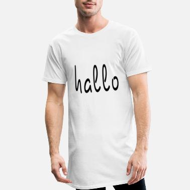 Bonjour Bonjour lettrage Bonjour, Bonjour - T-shirt long Homme