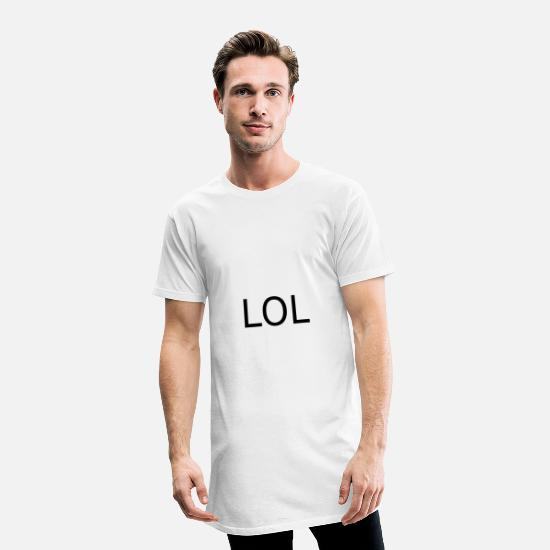 Giggle T-Shirts - Funny - Men's Long T-Shirt white