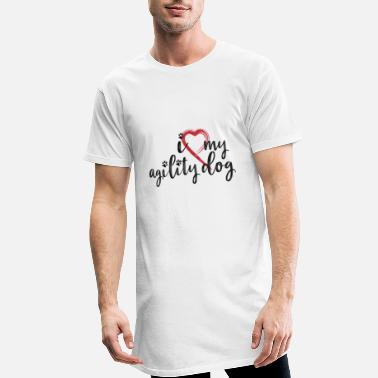 i love my agility dog - Men's Long Body Urban Tee