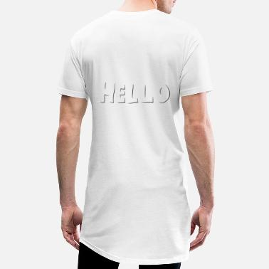 Hello 3D font gift idea gift child - Men's Long T-Shirt