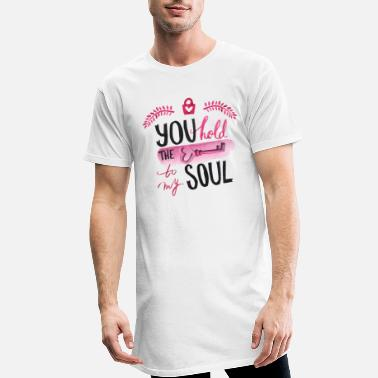 U You hold the key to my soul watercolor - Men's Long T-Shirt