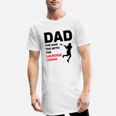 Lacrosse Lacrosse Player Dad Fathers day Gift - Funny Hobby - Men's Long T-Shirt