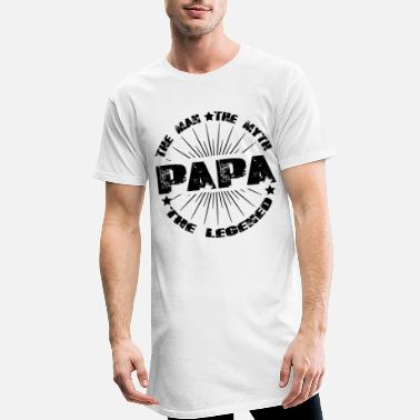 Papa The Man, The Myth, The Legend Vatertag Shirt - Männer Longshirt