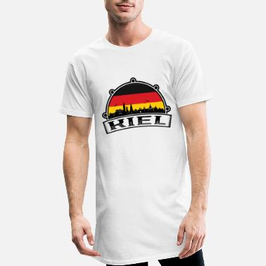 Kiel Kiel Germany Skyline Travel Souvenir German Flag - Men's Long T-Shirt