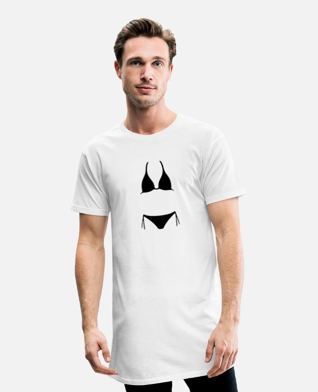 Water T-Shirts - Bikini - Men's Long T-Shirt white