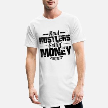 Cash Hustle Hip Hop Rap Spruch Money - Männer Longshirt