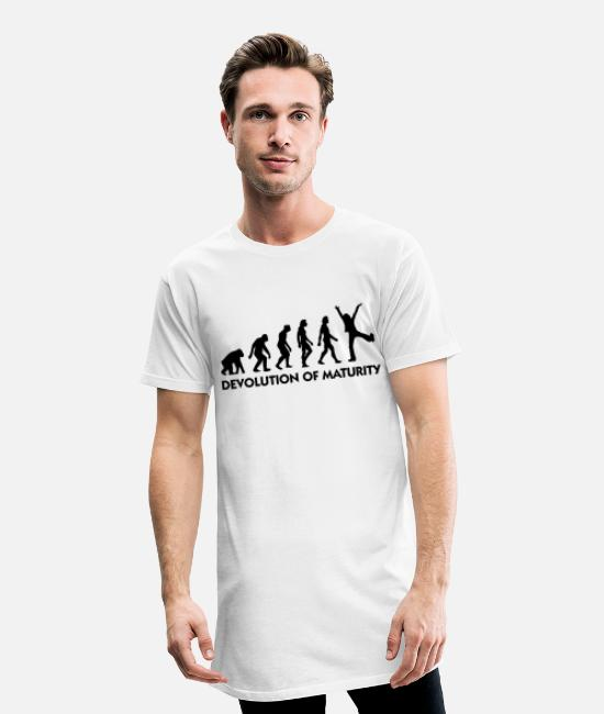 Miscellaneous T-Shirts - The Evolution of maturity - Men's Long T-Shirt white