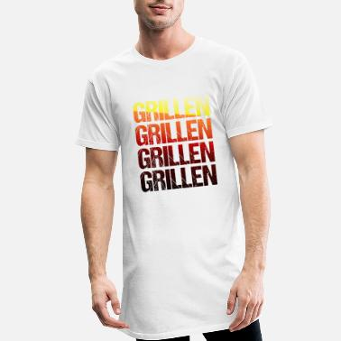 Grillmaster Barbecue TShirt Grillmeister barbecue season gift - Men's Long T-Shirt