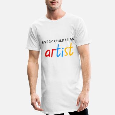 Weeskinderen Every child is an artist - Mannen Longshirt