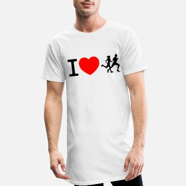 Sprinten I love racing - jogging - Men's Long T-Shirt