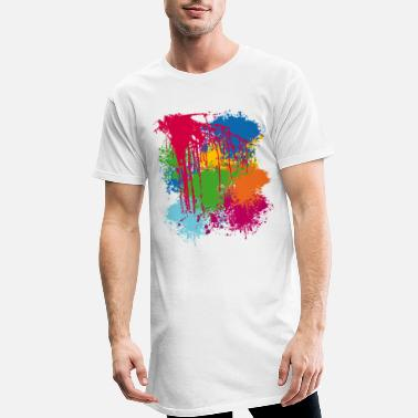 Splatter Color noise | Farbkleckse - Men's Long T-Shirt