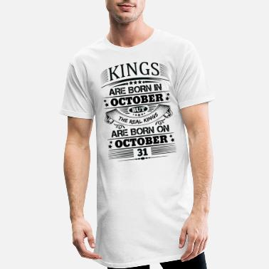31 October Real Kings Are Born On October 31 - Men's Long T-Shirt