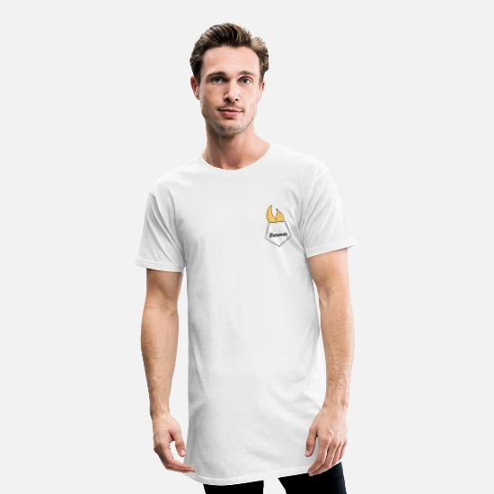 Fruit T-shirts - Bananes - T-shirt long Homme blanc