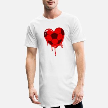 Football Football heart for football - Men's Long T-Shirt