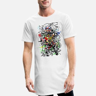 Peintre abstrait - T-shirt long Homme