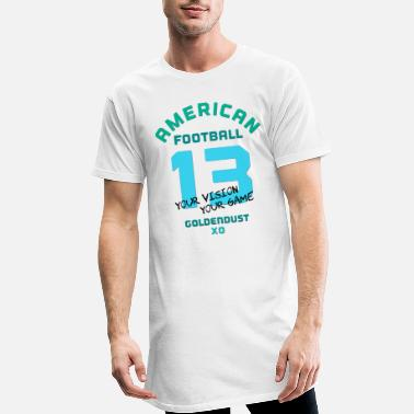 Fanshirt AMERICAN FOOTBALL 13 turquoise XO234 - Men's Long T-Shirt