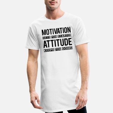 Motivation Motivation - Lang T-skjorte for menn