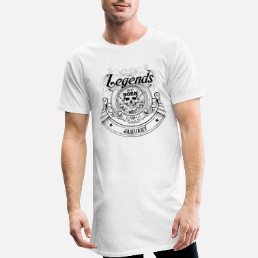 Skull Birthday January Legends Skull Skull - Men's Long T-Shirt