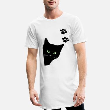 kitty's green eyes cat - Men's Long T-Shirt